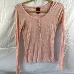 American Exchange Pink Jr.Med Long sleeveHenly top
